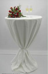 Návlek na koktejlový stůl bílá