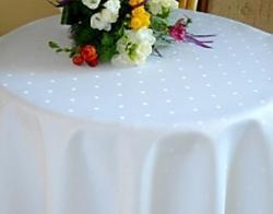 Ubrusy prostírky Prima s  úpravou vzorované bílé
